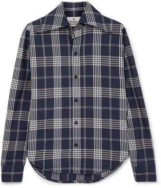 Vivienne Westwood Pianist Tartan Wool Shirt - Navy
