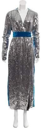ATTICO Velvet Wrap Dress black Velvet Wrap Dress