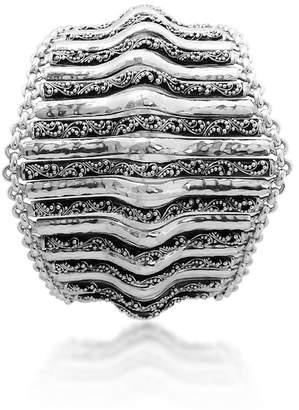 Lois Hill Sterling Silver Filigree Tapered End Bracelet