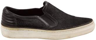 The Kooples Pony-style calfskin trainers