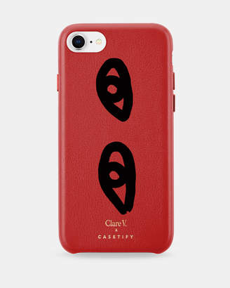Clare Vivier x Casetify Special Edition Eyes Cherry Leather Case for iPhone 6/6s/7/8