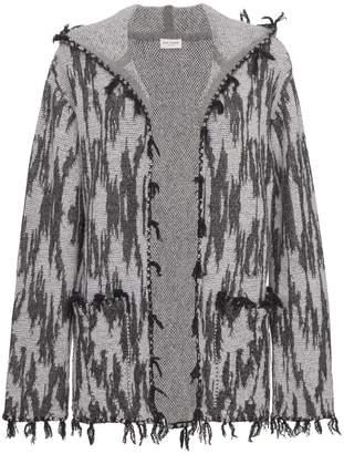 Saint Laurent Ikat hooded cardigan