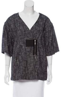 Zero Maria Cornejo Tweed Asymmetrical Jacket w/ Tags