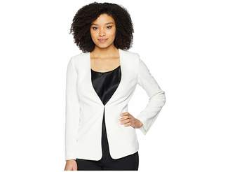 Tahari ASL Crepe Open Slit Sleeve Jacket Women's Coat