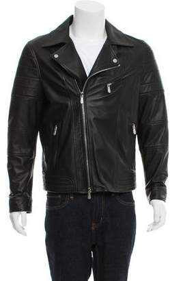Eleventy Leather Moto Jacket w/ Tags