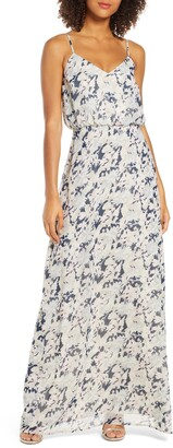 WAYF The Savannah Floral Print Blouson Gown
