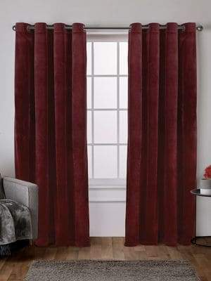 Home Outfitters Velvet Heavyweight Window Curtain Panel Pair wtih Grommet Top