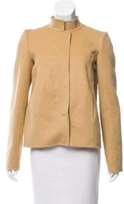 Oscar de la Renta Mock Collar A-Line Jacket