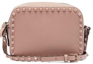 Valentino - Rockstud Camera Leather Cross Body Bag - Womens - Nude