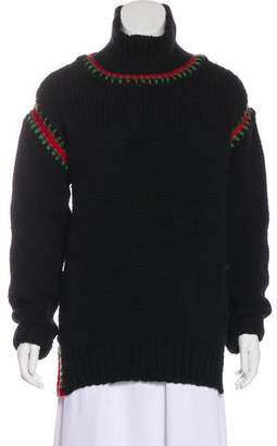 Moncler Virgin Wool Cable Knit Sweater