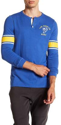 Junk Food Clothing NFL Los Angeles Rams Huddle Henley Shirt