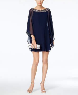 Xscape Evenings Petite Embellished-Neck Dress & Overlay