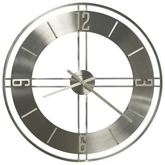 Howard Miller Stapleton Wall Clock, Silver, 84.3cm