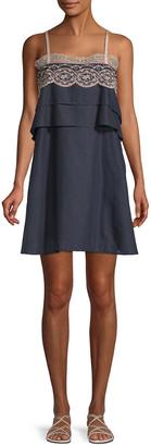 Paul & Joe Sister Valentine Lace-Trimmed Shift Dress