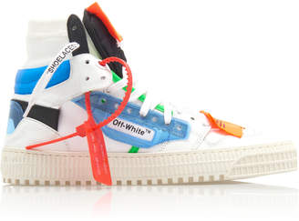 Off-White Off-Court PVC And Leather High-Top Sneaker