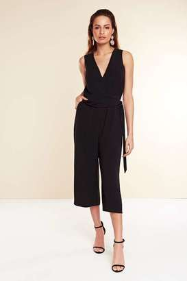 Wallis Pale Orchid Black Wrap Jumpsuit