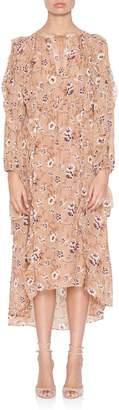 Ulla Johnson Ellette Longsleeve Floral Dress