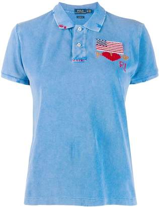 Polo Ralph Lauren embroidered flag polo top