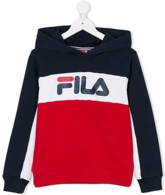 Fila color block logo hoodie