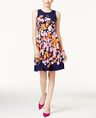 INC International Concepts Pleated Fit & Flare Dress, Only at Macy's $119.50 thestylecure.com