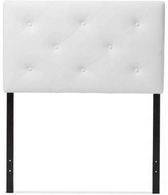 Baxton Studio Generic Baltimore Modern and Contemporary Faux Leather Upholstered Twin Size Headboard, Multiple Colors