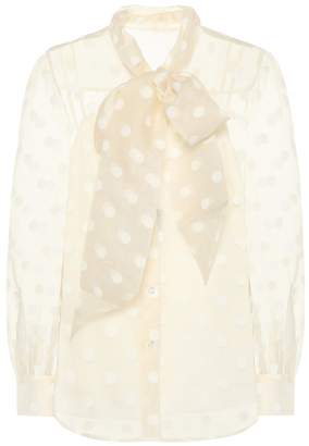 Marc Jacobs Dotted silk-blend organza blouse