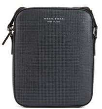 BOSS Hugo Signature Collection cross-body bag in checked calf leather One Size Patterned