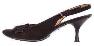 Tod's Suede Slingback Pumps