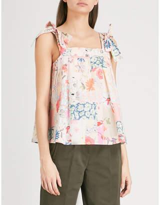 Claudie Pierlot Floral print cotton top