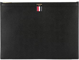 Thom Browne Large Zipper Laptop Holder(39X28CM) In Pebble Grain