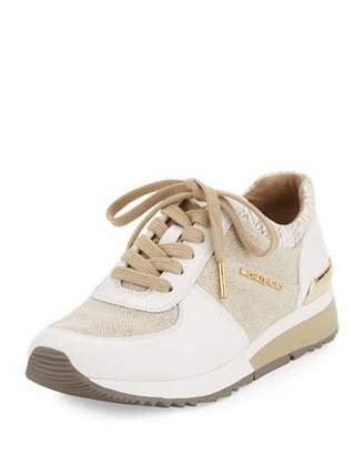 MICHAEL Michael Kors Allie Cotton Trainer Sneaker, Neutral/Multi $135 thestylecure.com