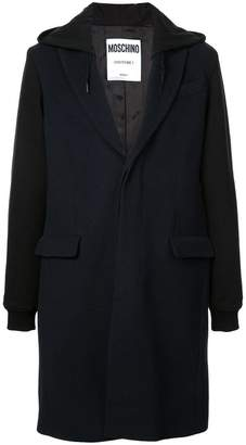 Moschino hooded mid-length coat