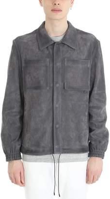 Golden Goose Grey Leather Jacket