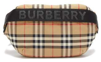 Burberry Sonny House Check Logo Jacquard Belt Bag - Womens - Beige Multi