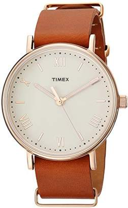 Timex Men's TW2R28800 Southview 41 Leather Strap Watch