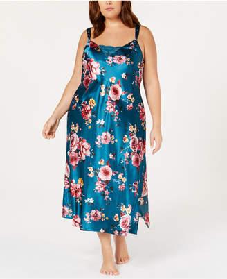 Thalia Sodi Plus Size Floral-Print Nightgown