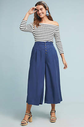 Anthropologie Oceanside Cropped Wide-Leg Pants