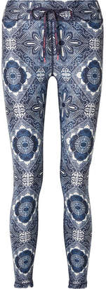 The Upside Frill Printed Stretch Leggings - Navy