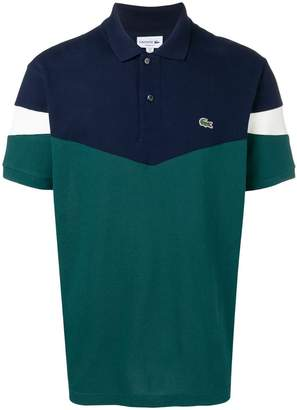 Lacoste colour block polo shirt
