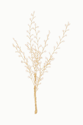 14 / Quatorze Baby's Breath Gold-plated Pearl Brooch