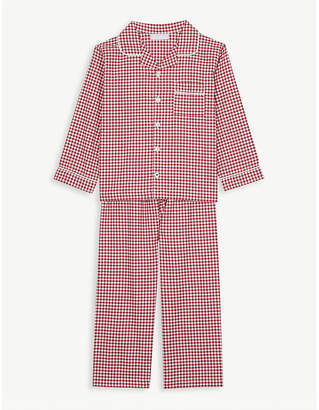 The Little White Company Mini gingham cotton pyjamas 1-6 years