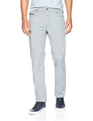 "Bugatchi Men's Five Pocket Satin Finish Cotton Stretch Pants 34"" Inseam"