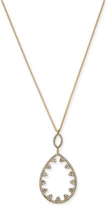 """INC International Concepts I.N.C. Gold-Tone Pavé Open Pendant Necklace, 32"""" + 3"""" extender, Created for Macy's"""