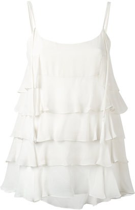 Twin-Set tiered tank top $201.56 thestylecure.com