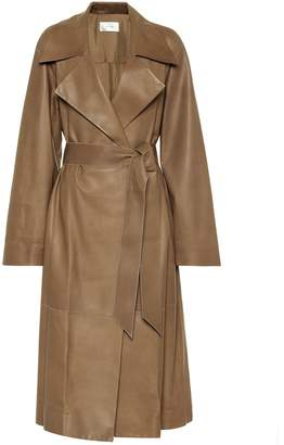 The Row Efo leather coat