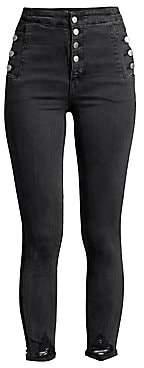 J Brand Women's Natasha Sky-High Cropped Skinny Jeans
