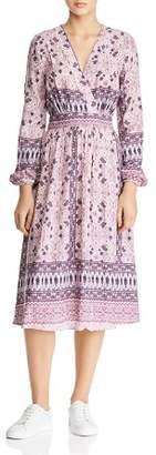 En Creme Floral & Bandana-Print Midi Dress