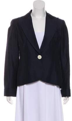 Lafayette 148 Wide Knot-Collar Single-Breasted Blazer