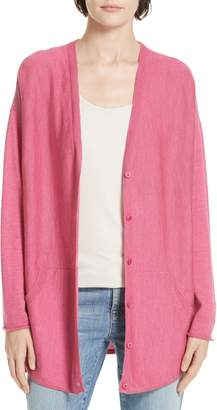 Eileen Fisher Merino Jersey V-Neck Cardigan