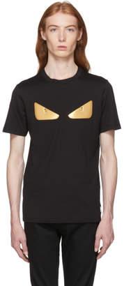 Fendi Black and Gold Bag Bugs T-Shirt